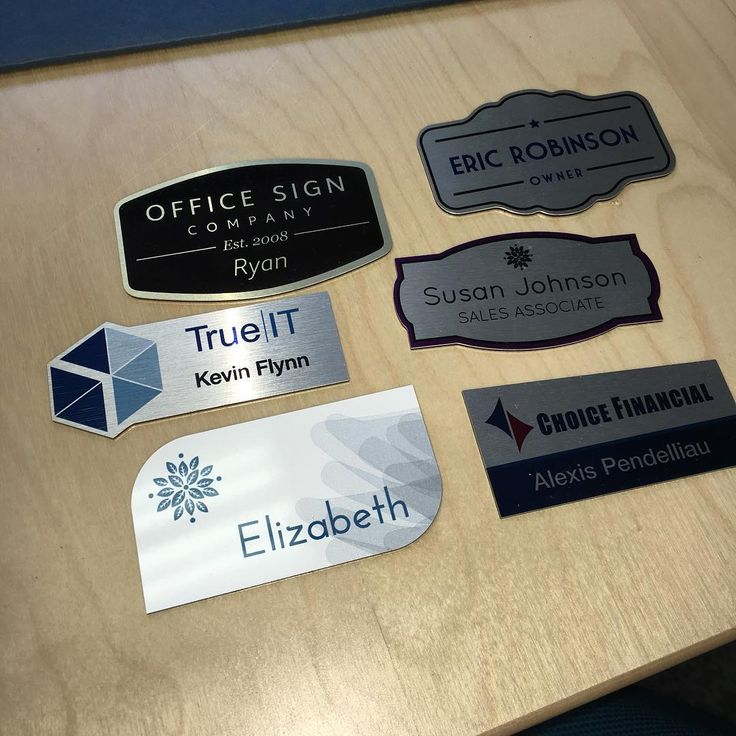 Did you know we do name badges too?? Have your logo and name printed or engraved :) #custom #namebadge #office #business