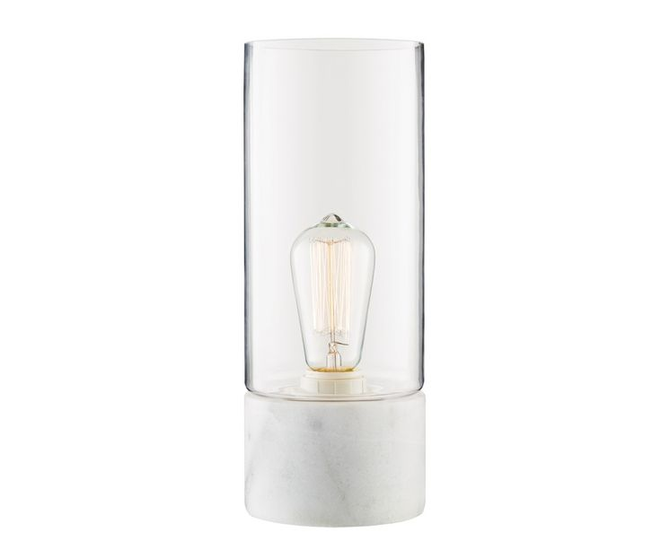 Stoic 1 Light Table Lamp in Marble/Clear