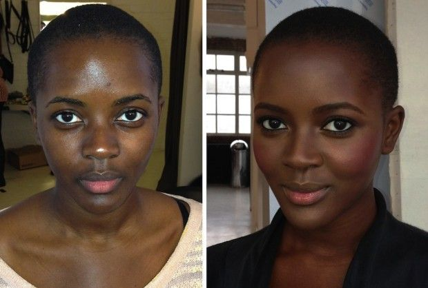 Notice the softness factor that makeup lends.  This is truly what is meant by ENHANCING one's beauty.