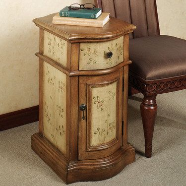 Jenyne Handpainted Chairside Storage Cabinet