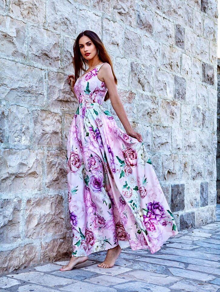 Sukienka Dluga W Kwiaty Jessica Roz Maxi Dress Fashion Dresses