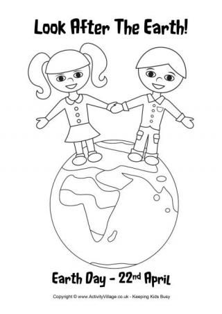Earth Day 2015 Colouring Page