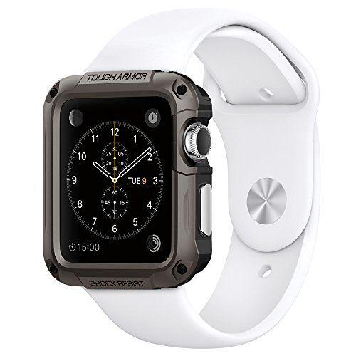 Sale Preis: Spigen Schutzhülle für Apple Watch 42mm Hülle TOUGH ARMOR [Kompletter Schutz] - Tasche [High Technologie] - dunkelgrau [Gunmetal - SGP11504]. Gutscheine & Coole Geschenke für Frauen, Männer und Freunde. Kaufen bei http://coolegeschenkideen.de/spigen-schutzhuelle-fuer-apple-watch-42mm-huelle-tough-armor-kompletter-schutz-tasche-high-technologie-dunkelgrau-gunmetal-sgp11504