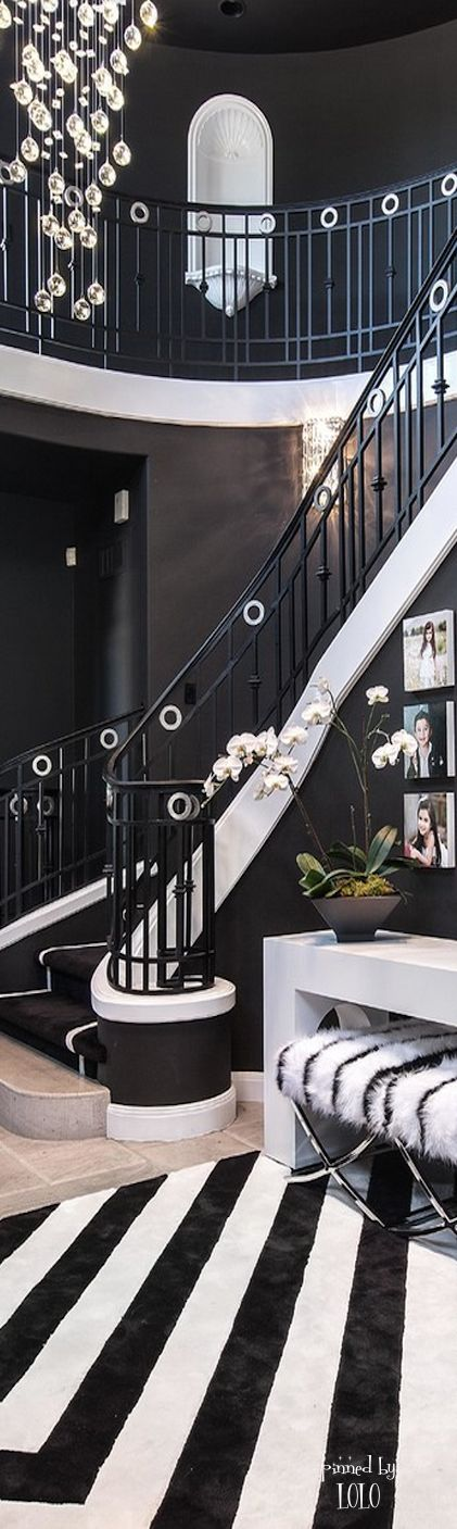 love designing and the use of black and white..Bella Donna. The most luxurious pieces and ambiences you ever seen are at www.homedesignideas.eu #hallway