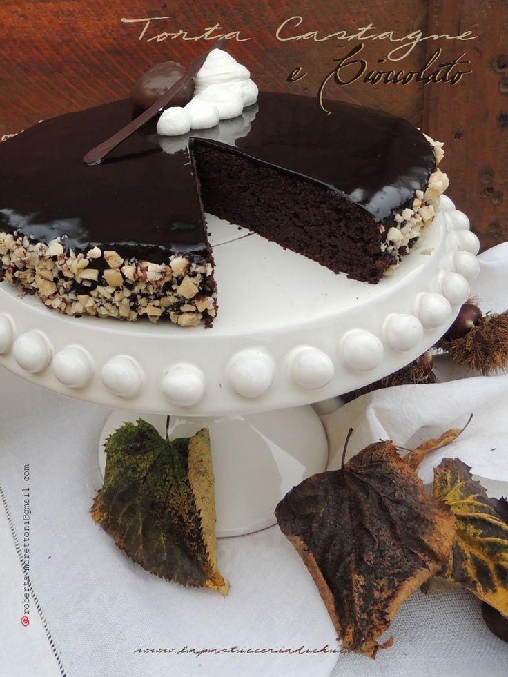 Torta castagne e cioccolato, un dolce autunnale ottimo come dessert, ma ideale anche per la prima colazione. Ricetta e ingredienti sul blog  http://www.lapasticceriadichico.it/2014/11/torta-castagne-e-cioccolato.html