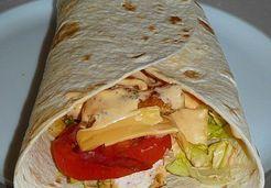 Wrap poulet - bacon façon fast food - Erica M.