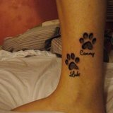 Paw Print Tattoos. Love the idea, but smaller, for lost pets who have touched our hearts forever <3