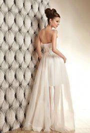Vicky White rövid esküvői ruha