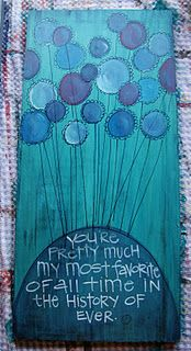love the colors and the message...diy paint on canvas, felt on canvas, felt and string?...so many  choices
