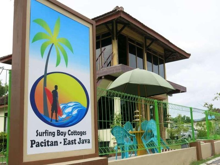 Surfing Bay Cottages Pacitan di Tepi Pantai