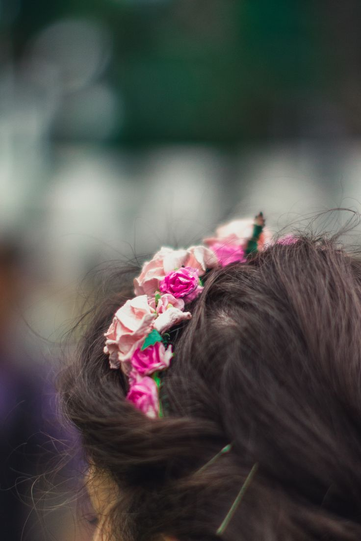 Handmade flower crown, engagement party.