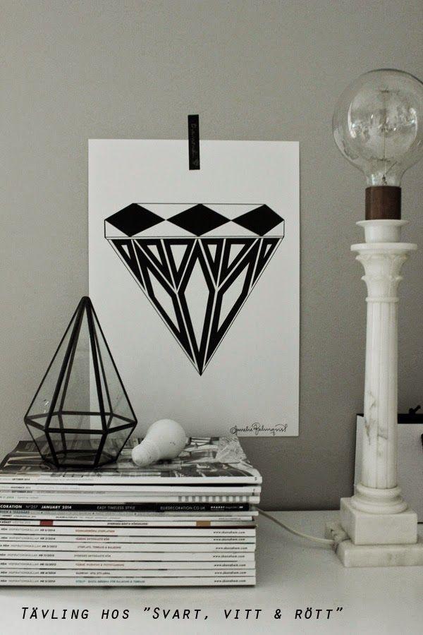 """Konsttryck """"Diamant"""", finns i A4 och A3"""