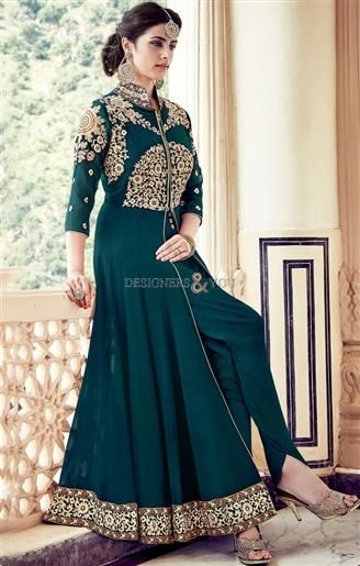 Gorgeous Dark Green Embroidered Georgette Party Dress For Ladies   #DesignerDresses #BeautifulDesignerDresses #DesignerDressesPatterns #DesignerSuitsPatterns #DesignerDressesDesigns #DesignerSuitsDesigns #DesignersAndYou #StylishDesignerDresses #DesignerDressesOnline #BestDesignerDresses #LatestDesignerDresses #IndianDesignerDresses #DesignerDresses2017 #EmbroideredDesignerDresses #CutWorkDesignerDresses #ModernDresses #ModernDesignerDresses
