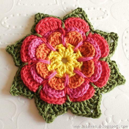 crochet rose (tutorial): Crochet Ideas, Crochet Flower Pattern, Free Pattern, Crochet Rose, Flower Tutorials, Rose Tutorial, Crochet Flower Tutorial, Flower Crochet, Crochet Pattern