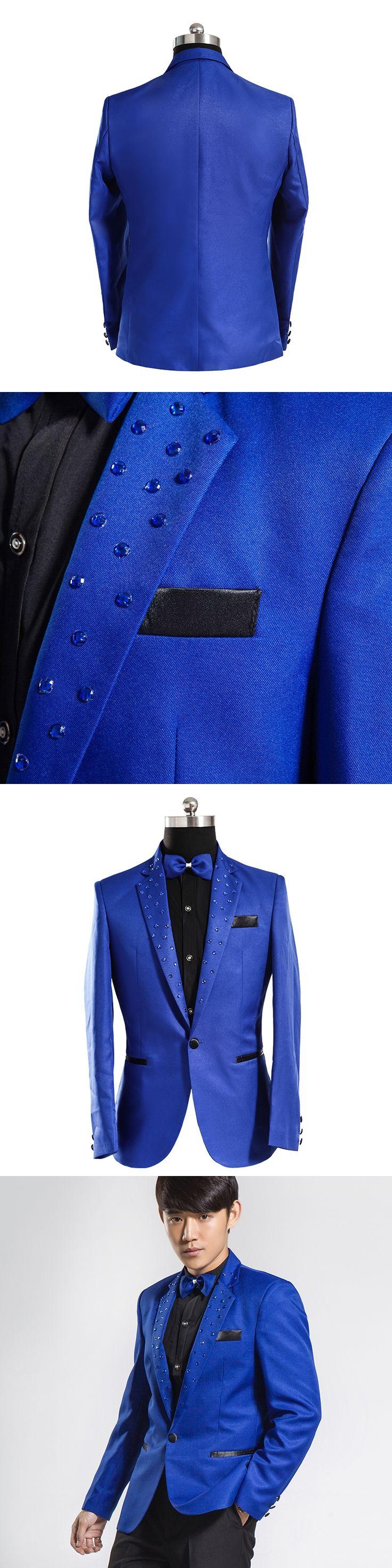 Mens blazers new arrivals 2017 royal blue blazer men's blazer masculino blue blazer jaqueta masculina