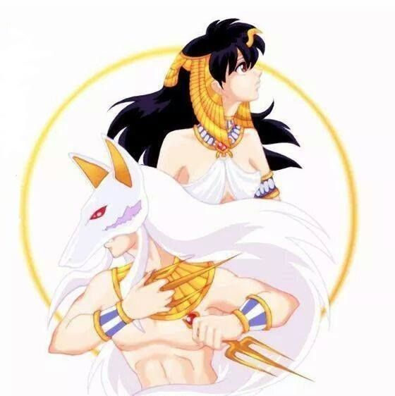 Ancient Egypt-style InuYasha and Kagome!