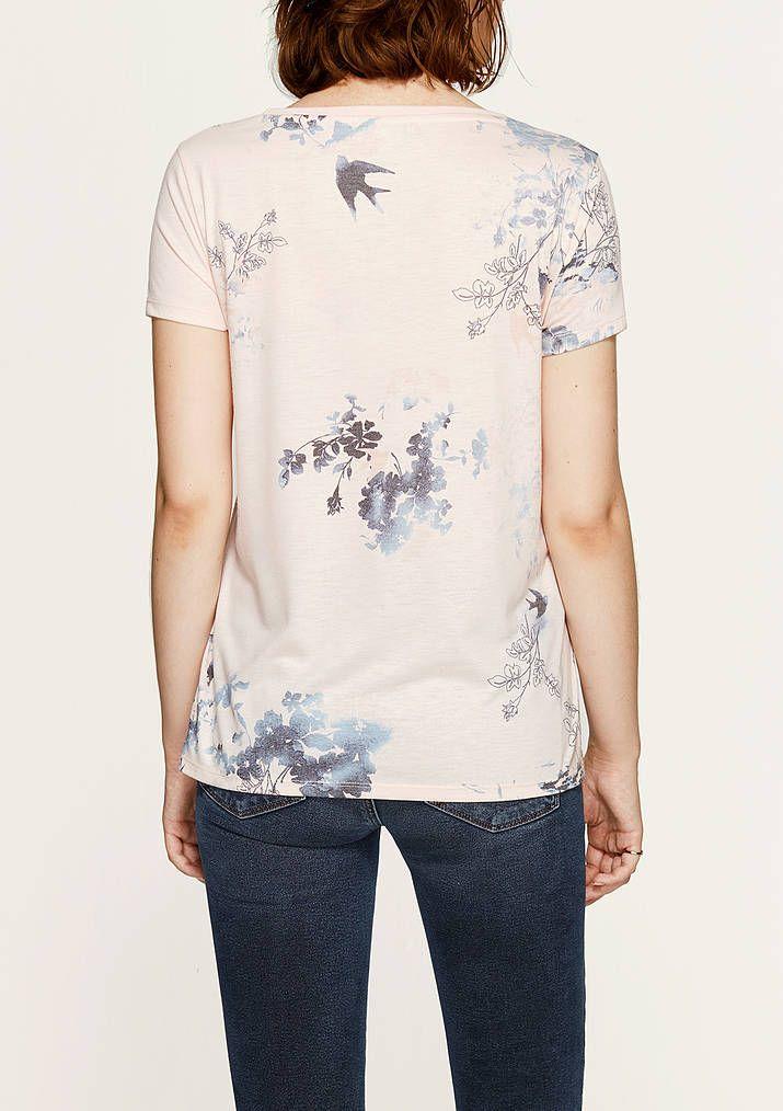 Mavi'nin Kadın Tişört koleksiyonundan Çiçek Baskılı Bej Tişört.