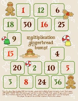 Bump is a math game that's been around for a while and there are many different versions of it. Basically, the kids roll two dice, multiply the sum...