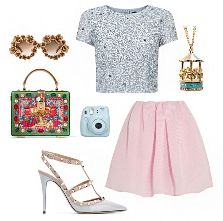 Disneyland Attraction OOTD Inspiration: King Arthur Carrousel | Let this Fantasyland attraction inspire your next special occasion outfit with sparkles and feminine colors. | [ http://di.sn/6002864Ys ]