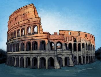 Learn How to Draw the Colosseum, Famous Places, Landmarks & Places, FREE Step by Step Drawing Lessons for Kids, Added by KingTutorial, October 4, 2010, 5:24:55 pm