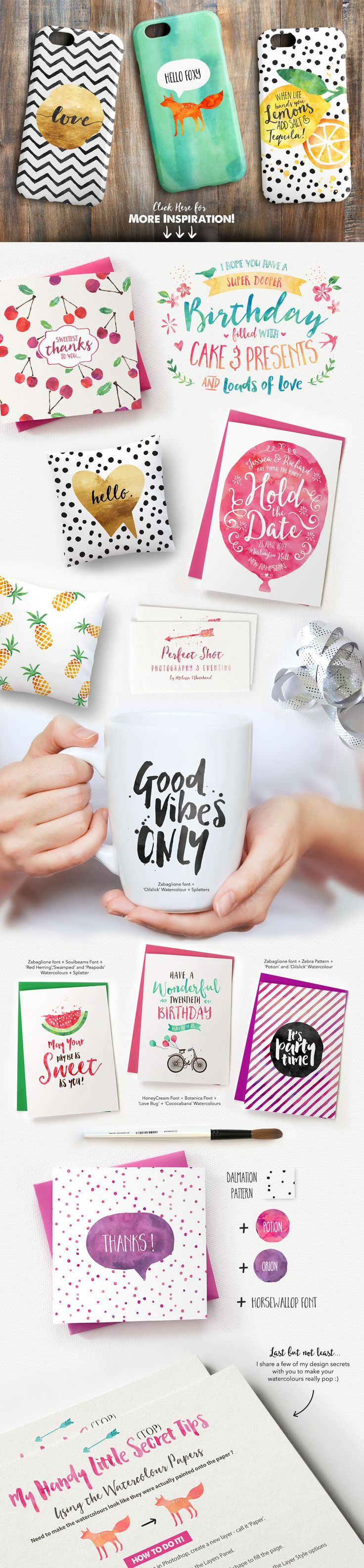 Love the brush lettering possibilities with the fonts in this kit!