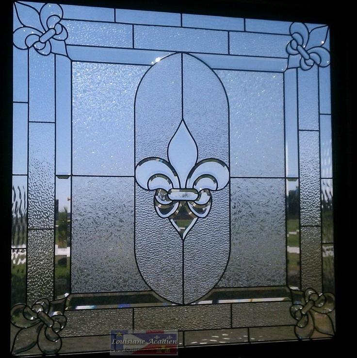 fleur de lis in glass  <3