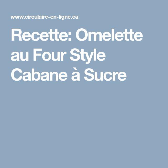 Recette: Omelette au Four Style Cabane à Sucre