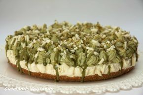 Pistachio white chocolate cheesecake