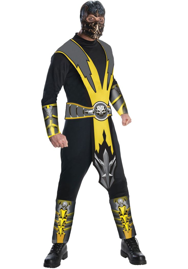Mortal Kombat Scorpion Costume, Mortal Kombat Fancy Dress - Superhero Costumes at Escapade