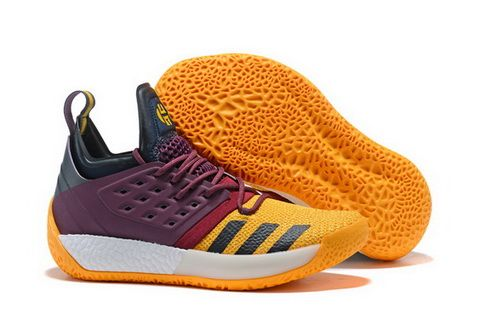 2413529cea4b Latest adidas Harden Vol 2 Wine Red Grey-Yellow