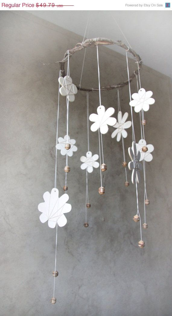 20% OFF HOLIDAY SALE Woodland Mobile Flower Mobile by YourZenZone