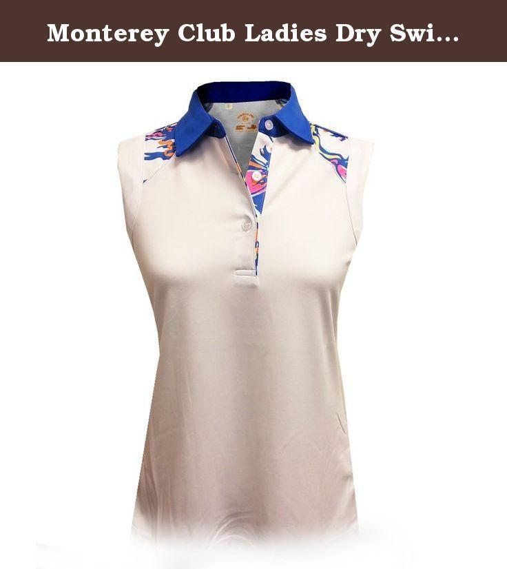 Monterey Club Ladies Dry Swing Colorblock Sleeveless Shirt #2673 (White/Kalvin Blue, Small). Monterey Club Ladies Dry Swing Colorblock Sleeveless Shirt #2673 (White/Kalvin Blue, Small).