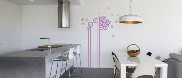 Bubliny na tyči (1062) / Samolepky na zeď, stěnu a nábytek