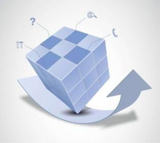 Free Vector Magic Cube and Arrow Design