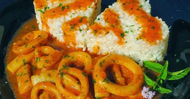 calamares en salsa americana olla gm,