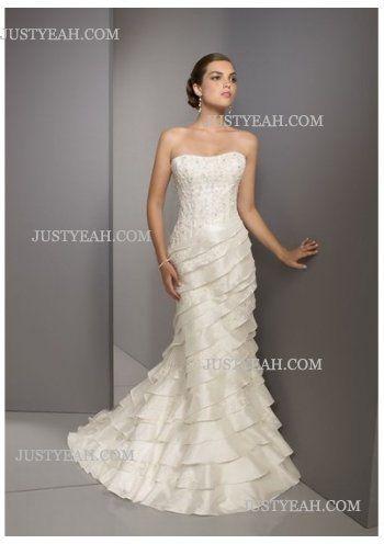 Summer sumptuous pretty Strapless Wedding Dresses 2016