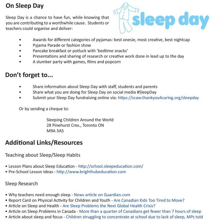 Teacher Resource for Sleep Day- page 4