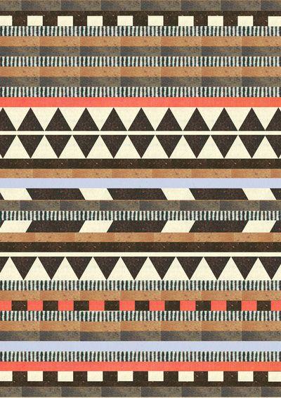DG Aztec No.1 by Dawn Gardner: Patterns Design, Colors Patterns, Aztec Art, Art Prints, Aztec Prints, Aztec Design, Tribal Prints, Aztec Patterns, Tribal Patterns