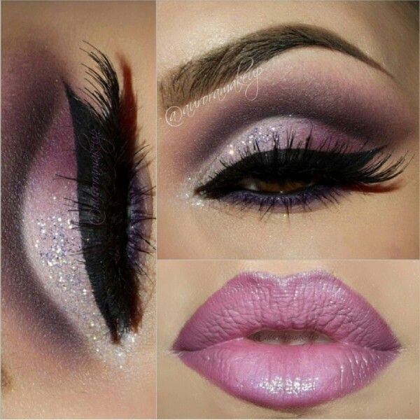 Purple #wedding #makeup .  Beautifully done @auoramakeup on #instagram