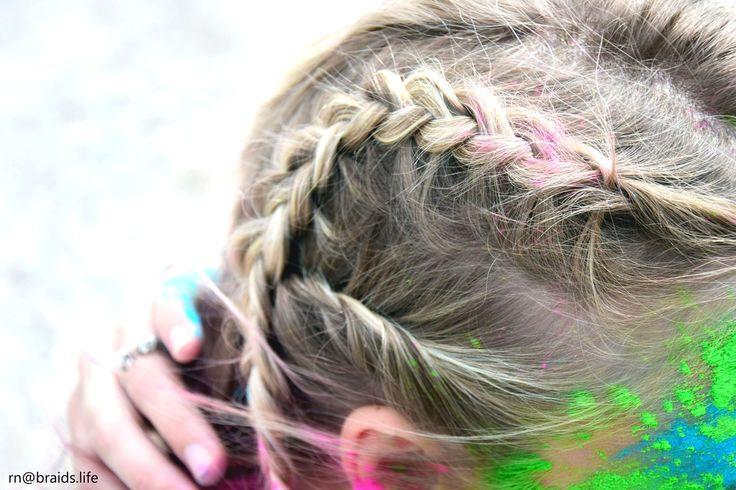 Festivalfrisuren/ Festivalfrisur - ein geflochtener Irokese :) geflochtene Haare | Haare flechten