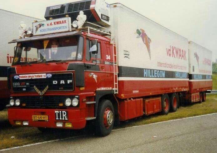 DAF FAS 3300 Ati 6x2 met koelwipkar van Van der Kwaak uit Hillegom