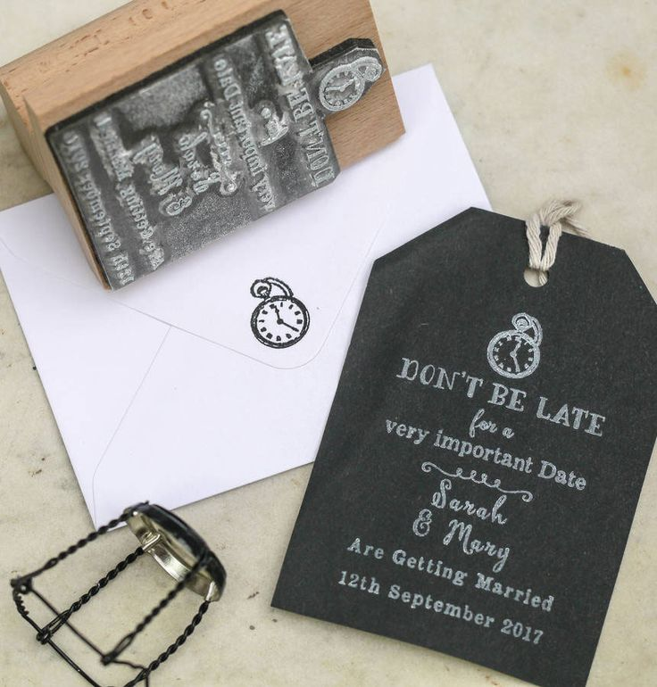 We're in love with this whimsical save the date stamp from English Stamp Company. It would be the perfect way to give your guests a teaser of an unusual wedding theme with an Alice in Wonderland twist