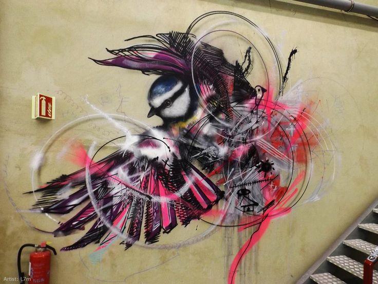 graphiste street art | STREET ART - L7M, l'ornithologue du graffiti : Blog Shane