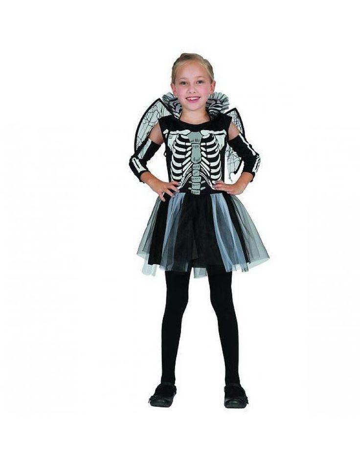Magicoo Skelet kostuum voor meisjes