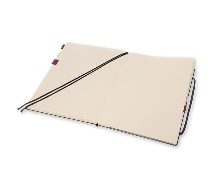 Caderno quadriculado A4 em capa dura, preto