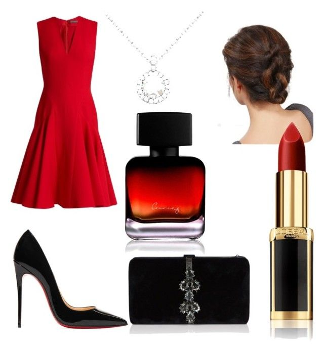 """Untitled #81"" by danaemf on Polyvore featuring Alexander McQueen, Christian Louboutin, Allurez, Dsquared2, The Collection by Phuong Dang and L'Oréal Paris"