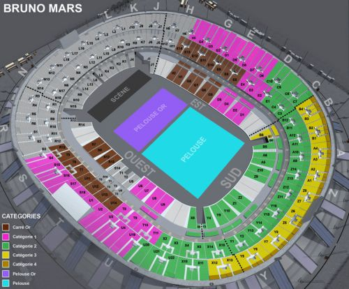 Paris Eventicket - Billetterie de spectacle - CONCERT - VARIETE INTERNATIONALE - BRUNO MARS - STADE DE FRANCE - - STADE DE FRANCE