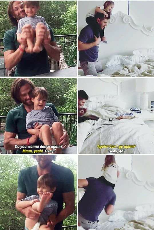 Great men make AMAZING fathers! #Jensen Ackles #Jared Padalecki
