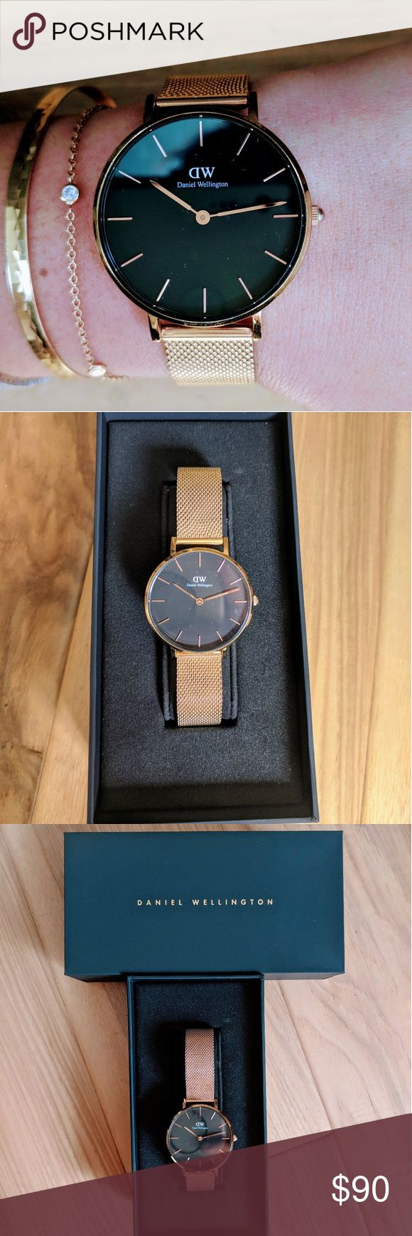 Daniel Wellington classic Petite Melrose 28 mm, rose gold. I got so many compliments on this watch!   Strap: mesh Adjustable lengthy: 5.9 - 8 in. Original box included Daniel Wellington Accessories Watches