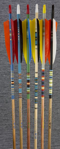 Premium arrows designed by the head of our arrow building department with beautifully designed cresting, color and feather combinations.